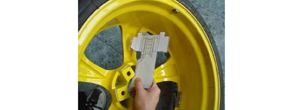 Примерка тормозной системы D2 по шаблону