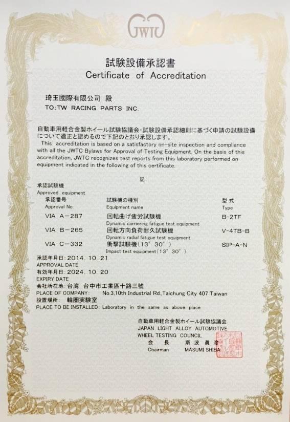 Сертификат D2racing