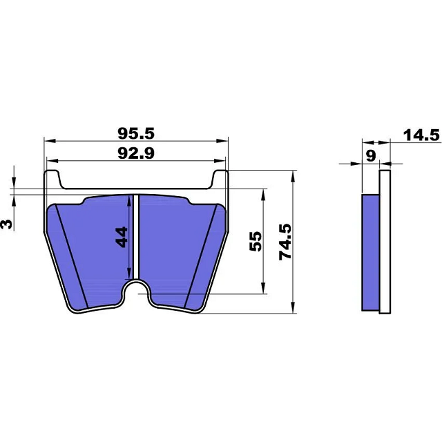 Передние тормозные колодки Street 444 мм /комплект/